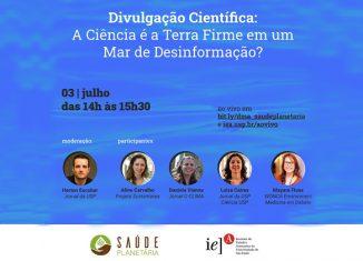 banner saúde planetária_20200703 Foto: Divulgação/IEA