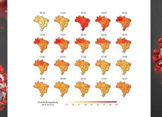 Política de distanciamento social/ registro de deslocamento geográfico das pessoas por smartphones (março a 20 de julho de 2020).