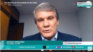 Plano USP para o retorno gradual das atividades é tema de entrevista da TV Assembleia
