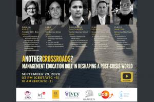 Conferência internacional discute educação para gestão responsável no contexto pós-pandemia