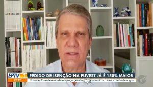 Vice-reitor fala sobre o aumento de 158% no número de isenções na taxa do Vestibular