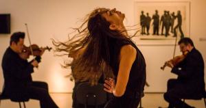 Espetáculo reúne artes plásticas, dança e música