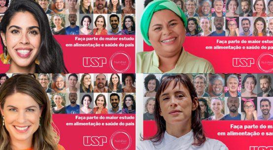 Campanha tem embaixadores voluntários do estudo NutriNet Brasil, sobre padrão alimentar brasileiro - Foto: Reprodução / Nupens USP