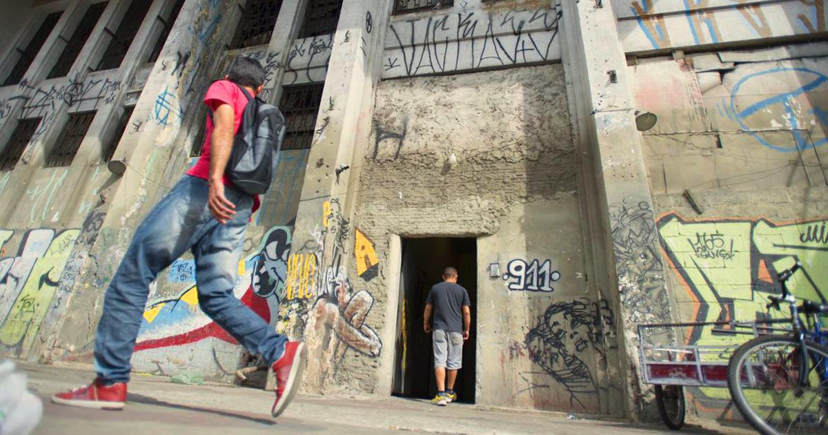 Fachada da ocupação Prestes Maia, localizada na região da Luz, centro da capital - Foto: Marcelo Camargo/Agência Brasil