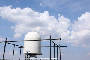 Radar atmosferico de chuva localizado no IF/USP - foto Cecília Bastos/Usp Imagens