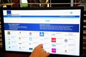 A página de abertura da Biblioteca Digital Vérsila na internet – Foto: Cecília Bastos/USP imagens