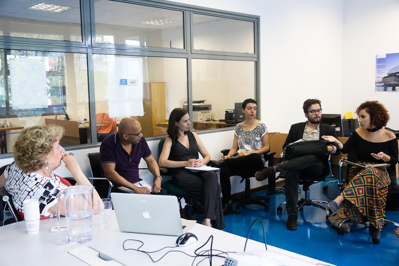 Reunião HeforShe no Escritório USP Mulher. Foto: Cecília Bastos/USP Imagem