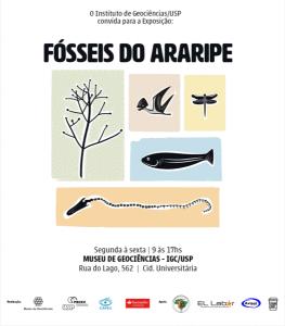 """Cartaz da Exposição """"Fósseis do Araripe"""""""