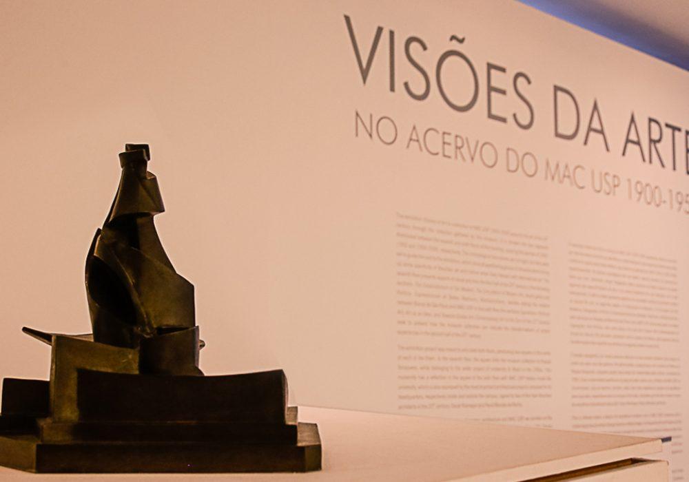 Desenvolvimento de uma garrafa no espaço (1912), escultura de Umberto Boccioni que integra a exposição Visões da Arte no Acervo do MAC USP 1900-2000 - Foto: Cecília Bastos / USP Imagens