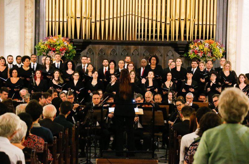 Coro da OSESP durante o Concerto de Inauguração do órgão - Foto: Cecília Bastos/USP Imagens