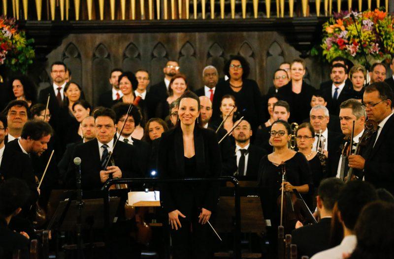 Orquestra Sinfônica da Universidade de São Paulo e e coro da Osesp, regência: Valentina Peleggi - Foto: Cecília Bastos/USP Imagens
