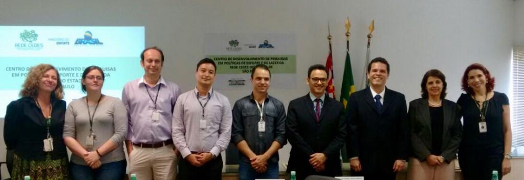 Evento contou com a presença da professora Maria Cristina e do professor Luciano Araújo