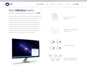Site da UkkoBox: segurança e privacidade para arquivos na internet - Foto: Reprodução