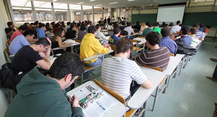 Aula de empreendedorismo na Poli-USP - Foto: Marcos Santos/USP Imagens