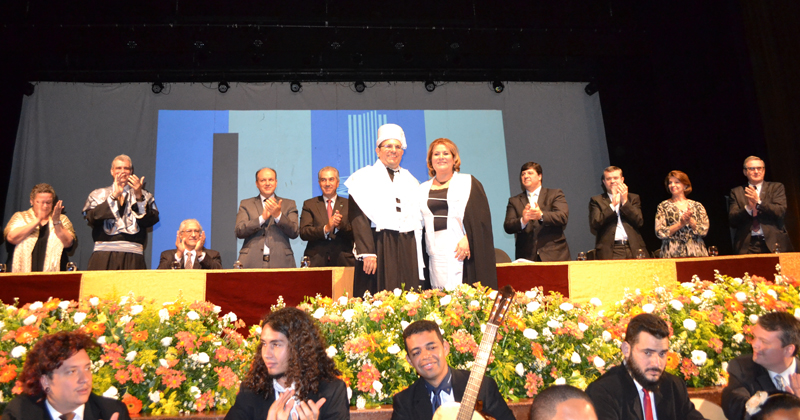 O ex-aluno do ICMC Marcelo Turine durante a cerimônia de posse como reitor da UFMS