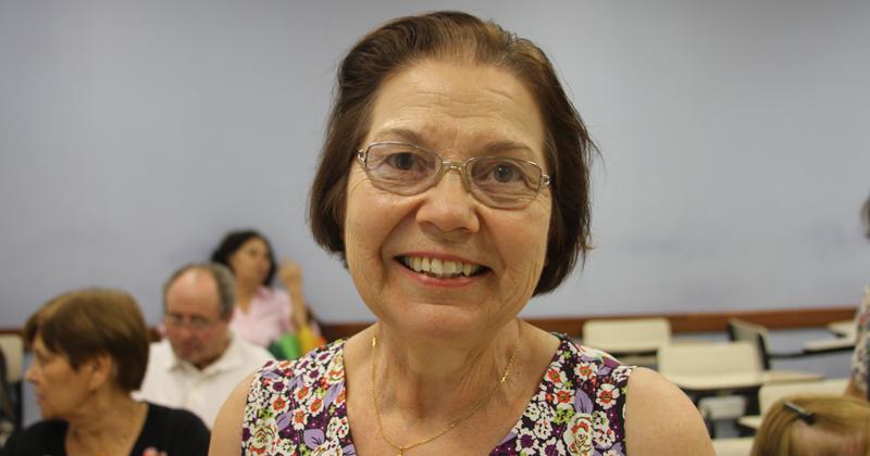 Maria Inês ficou admirada com a paciência dos monitores do curso